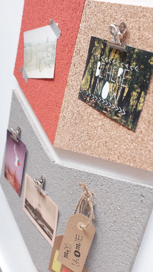 Interior's : diy déco panneau de liège façon pêle-mêle