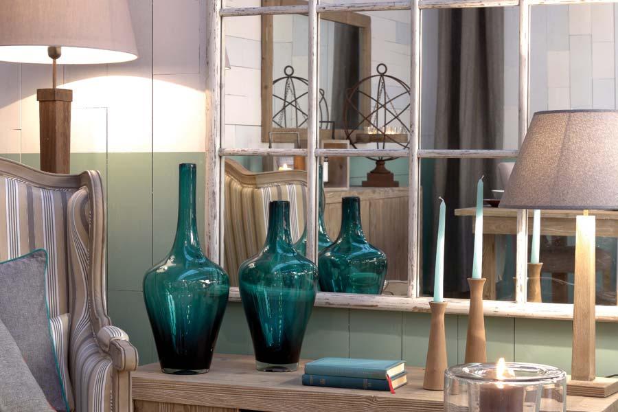 Vases déco bleus - Interior's