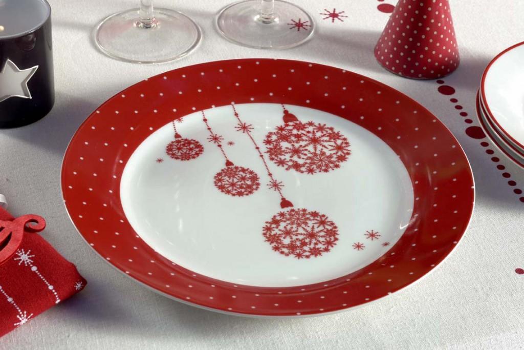 Assiette Noel Enchanté décoration