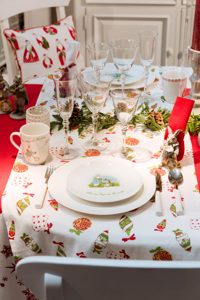 Table de Noël Monts et Merveilles Collection de décoration