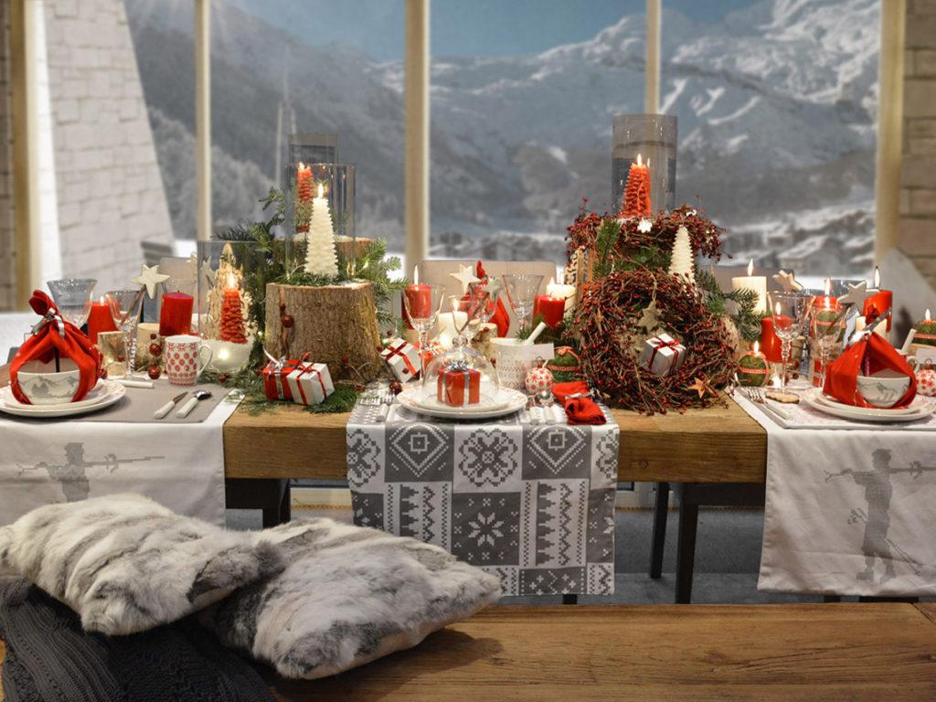 Décoration montagne pour un repas de Noël Interior's