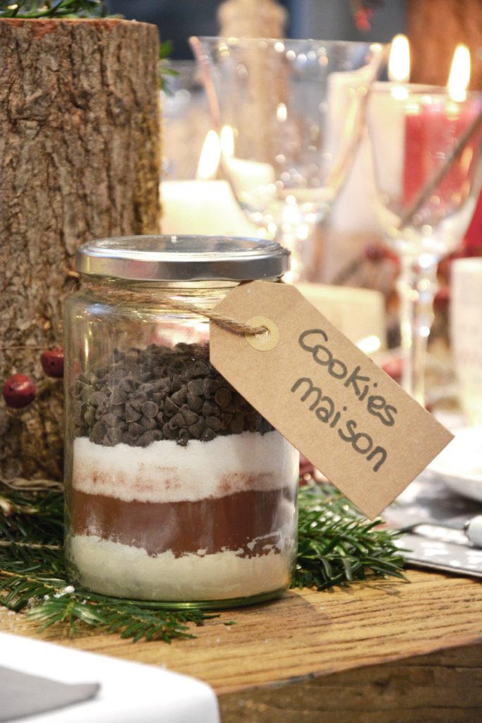 Recette cookies maison dans un bocal pour Noël