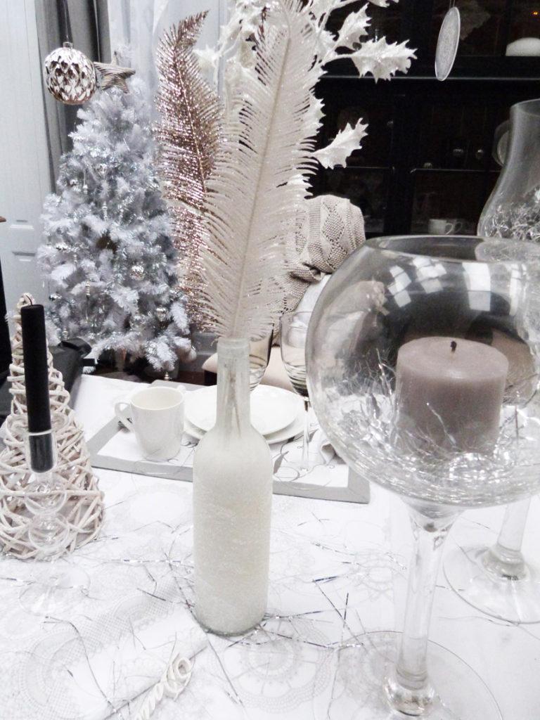 Décoration de table pour Noël : DIY vase enneigé Interior's