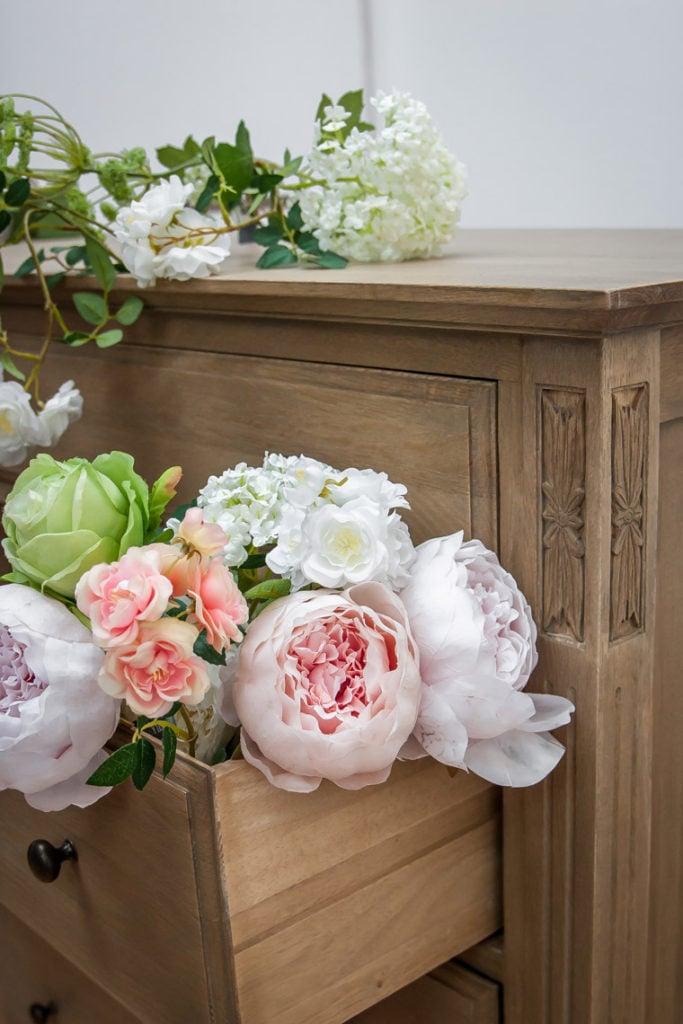 Fleurs artificielles pour décoration