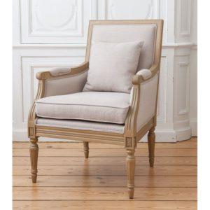 fauteuil de chambre bergère louis XVI