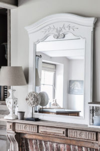 Miroir blanc de style romantique