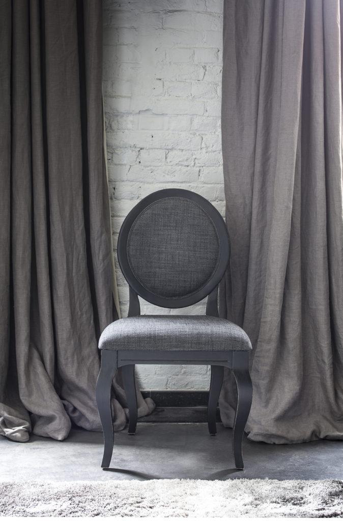 Chaise médaillon noir