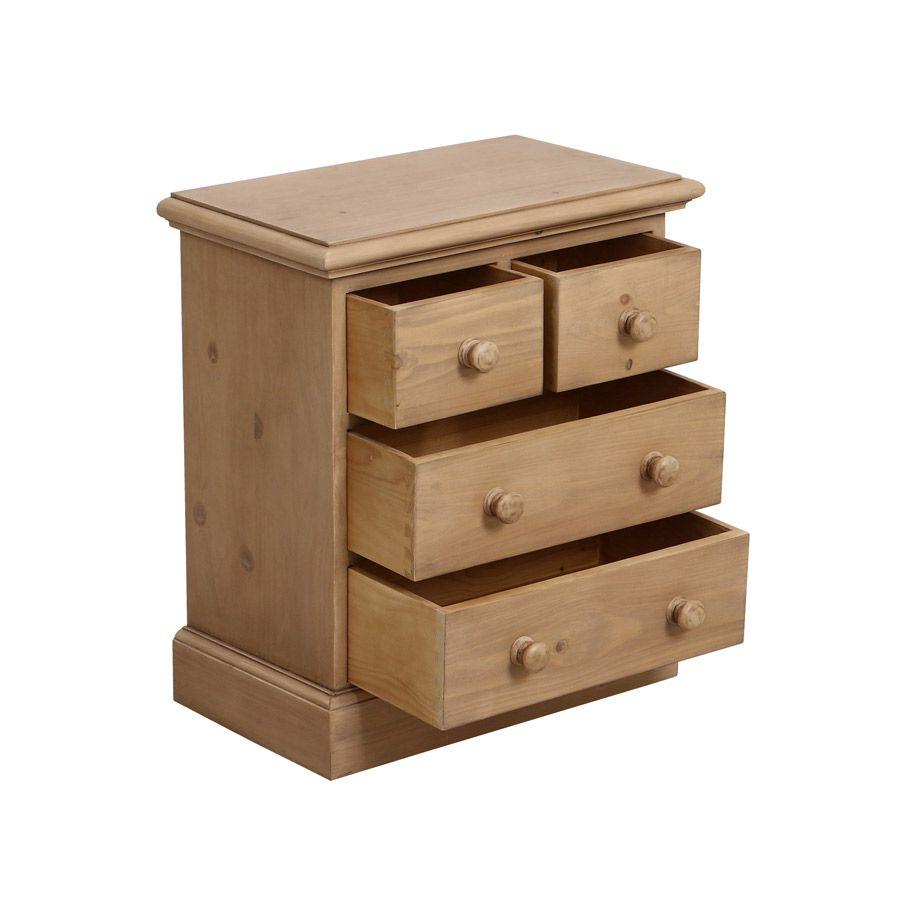 commode 4 tiroirs naturel interior 39 s. Black Bedroom Furniture Sets. Home Design Ideas