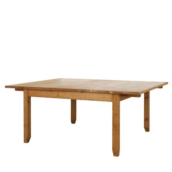 Table carr e allonges 10 12 couverts naturel for Table qui s allonge