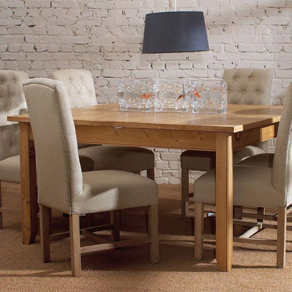 table carr e allonges 10 12 couverts naturel. Black Bedroom Furniture Sets. Home Design Ideas