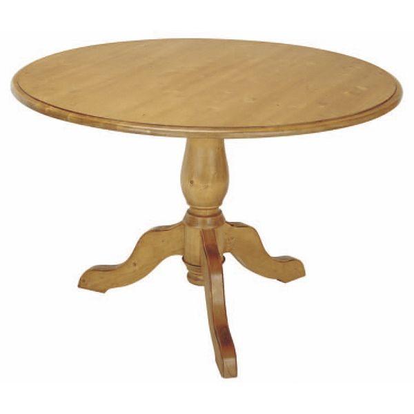 Meuble naturel bois interior 39 s meubles en bois massif naturel - Table a pied central ...