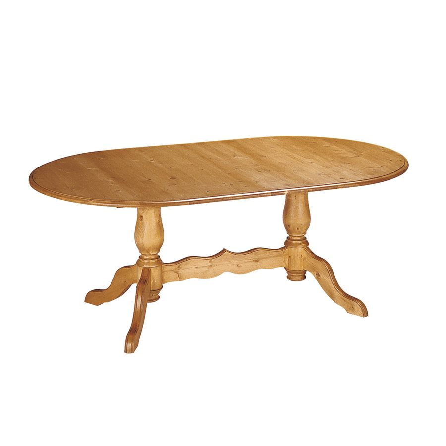 Table ovale allonges naturel interior 39 s - Table salle a manger ovale ...