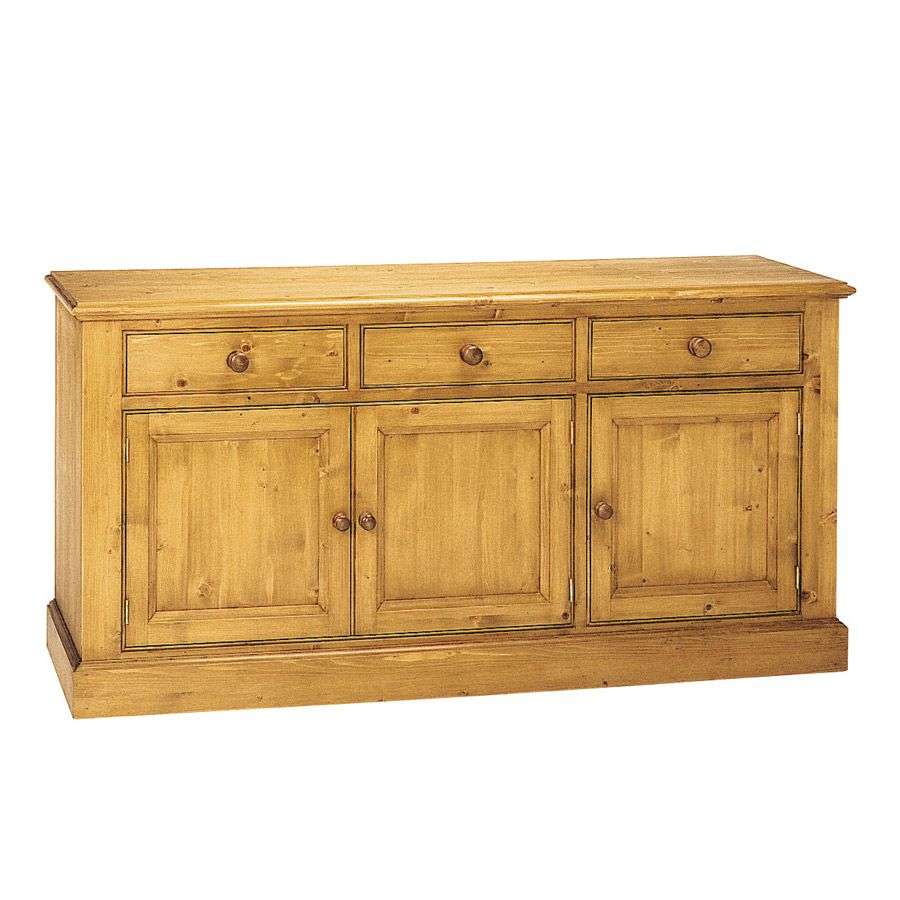 Buffet bas 3 portes 3 tiroirs naturel interior 39 s for Bas de buffet cuisine