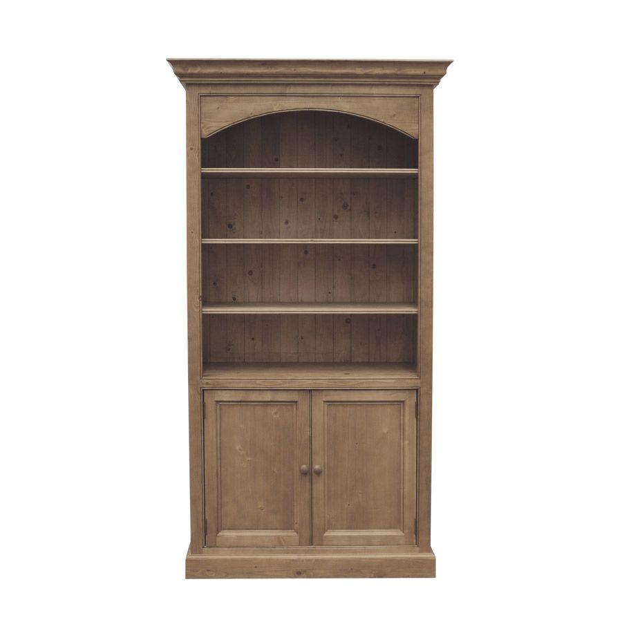 biblioth que 100 cm 2 portes basses naturel interior 39 s. Black Bedroom Furniture Sets. Home Design Ideas