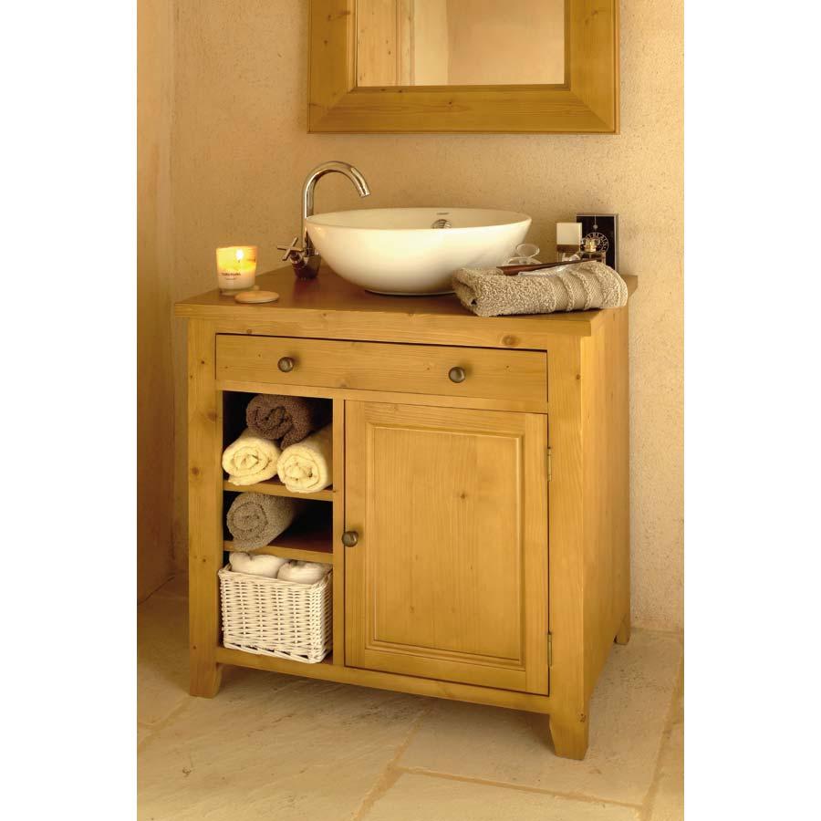 Meuble de salle de bain naturel interior 39 s for Meuble de chambre de bain