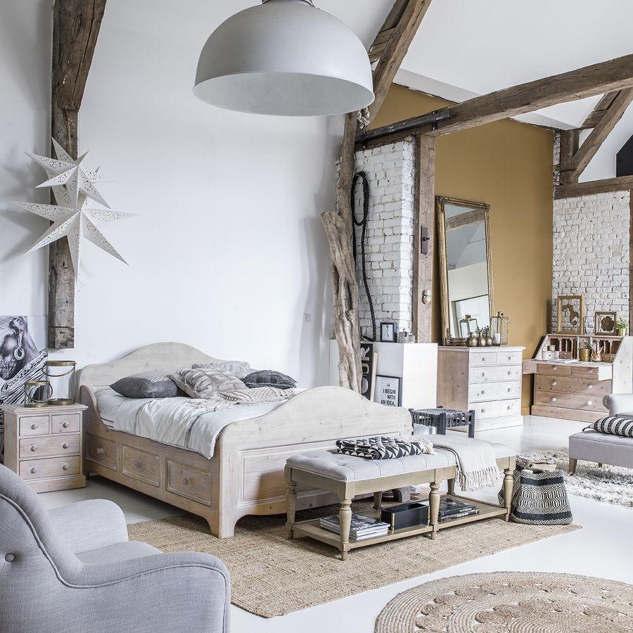 lit tiroirs 140x190 cm avec sommier lattes naturel interior 39 s. Black Bedroom Furniture Sets. Home Design Ideas