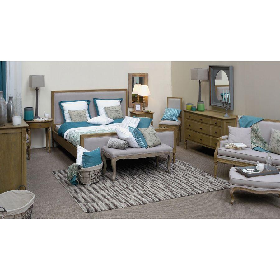 lit 180x200 cm avec sommier lattes naturel interior 39 s. Black Bedroom Furniture Sets. Home Design Ideas