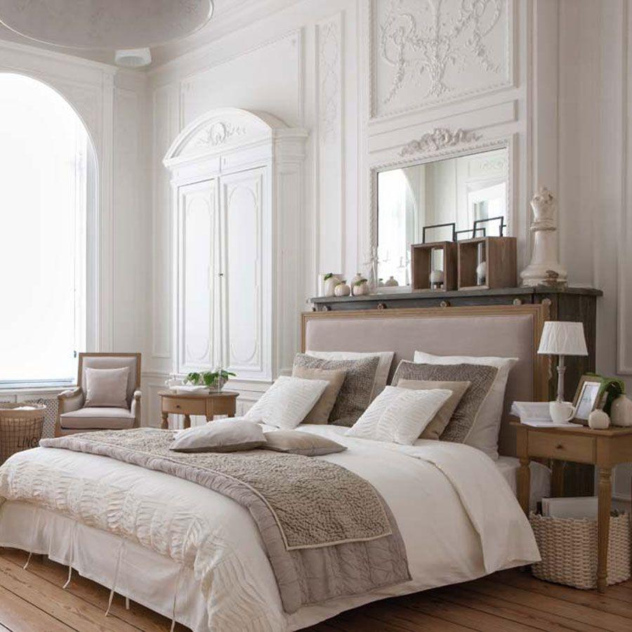 t te de lit en tissu 180 cm mathilde beige interior 39 s. Black Bedroom Furniture Sets. Home Design Ideas