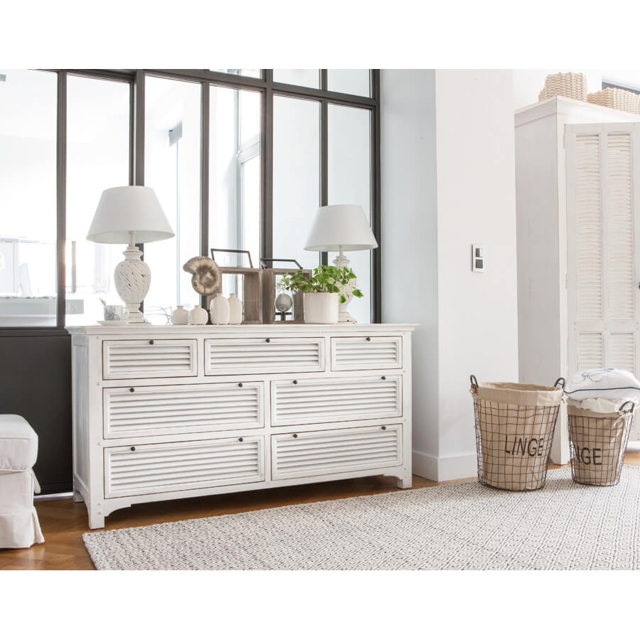 commode mercerie 7 tiroirs blanc interior 39 s. Black Bedroom Furniture Sets. Home Design Ideas