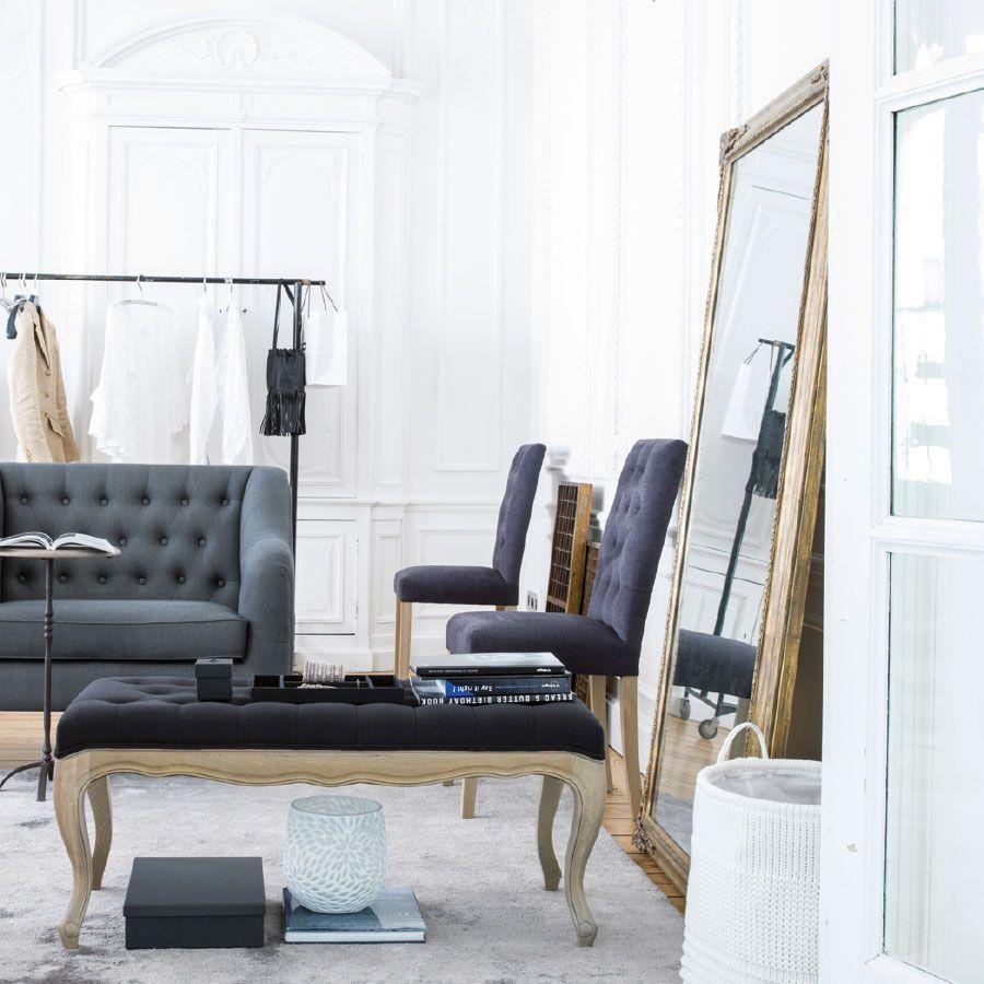 Miroir rectangulaire naturel marron interior 39 s for Miroir horizontal salon