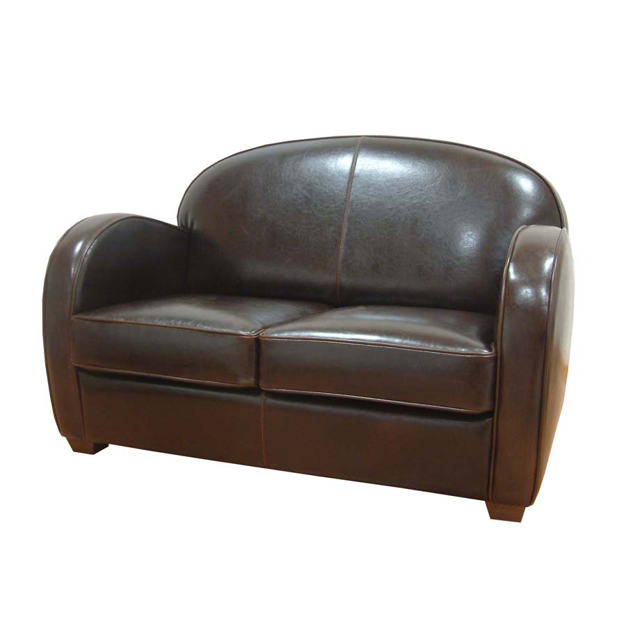 Canap cuir steed marron interior 39 s for Canape style industriel