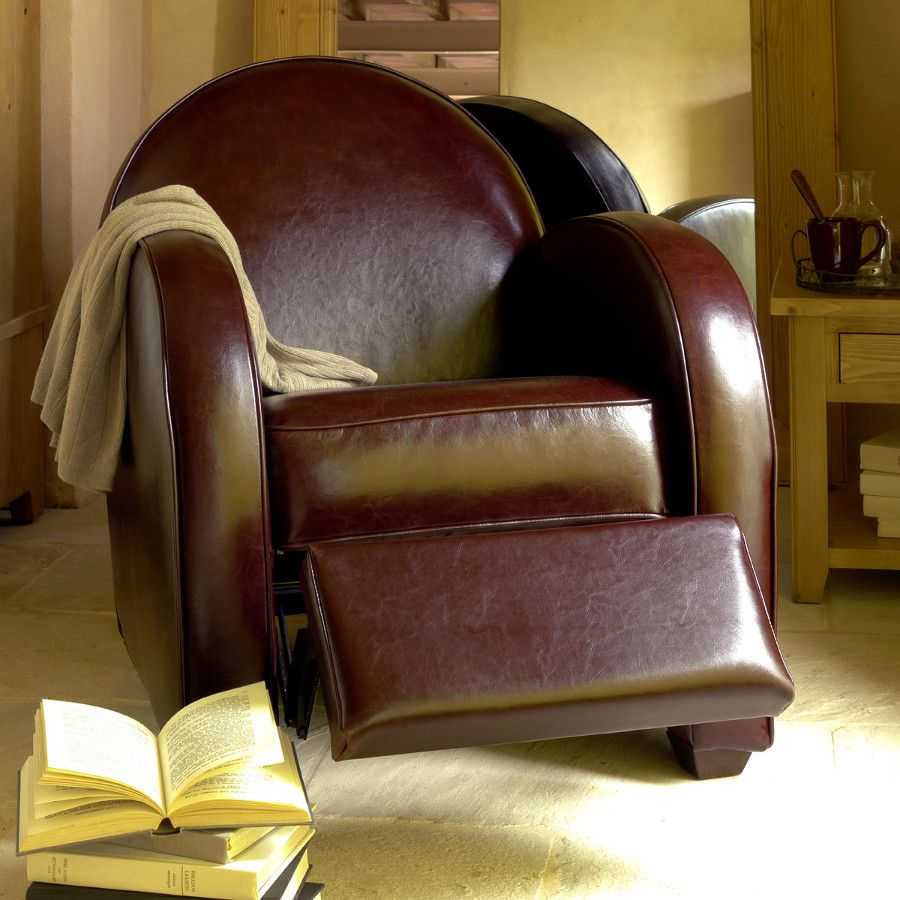 fauteuil club steed marron interior 39 s. Black Bedroom Furniture Sets. Home Design Ideas
