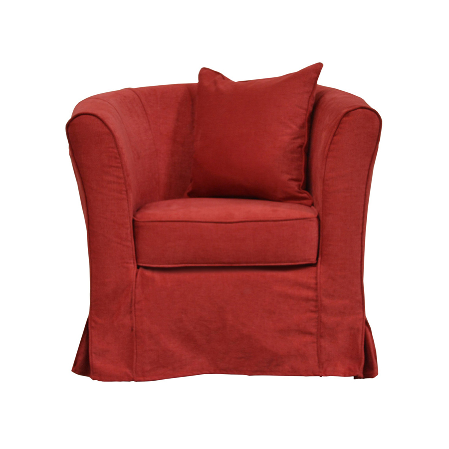 fauteuil cabriolet bristol - rouge - interior's