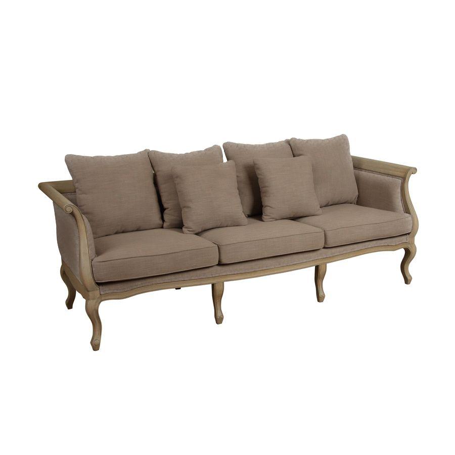 banquette l onie 3 places marron interior 39 s. Black Bedroom Furniture Sets. Home Design Ideas