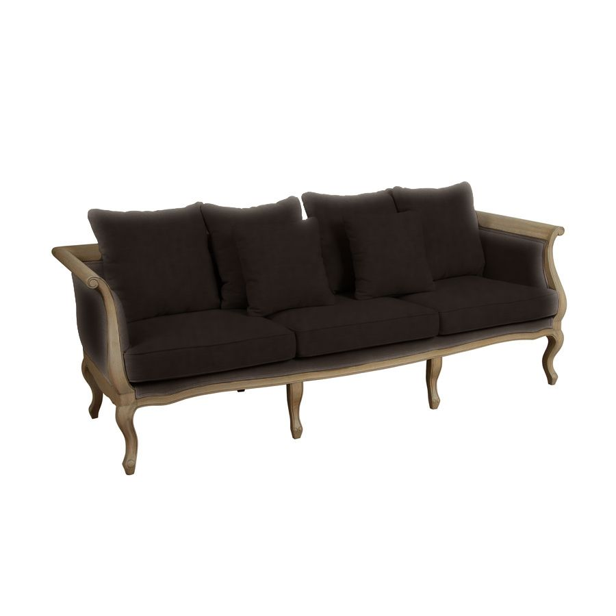 banquette l onie 3 places marron interior 39 s. Black Bedroom Furniture Sets. Home Design Ideas
