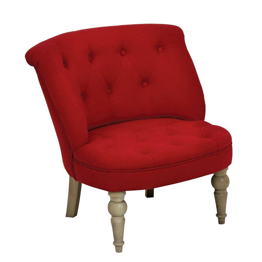 fauteuil crapaud bastien rouge interior 39 s. Black Bedroom Furniture Sets. Home Design Ideas