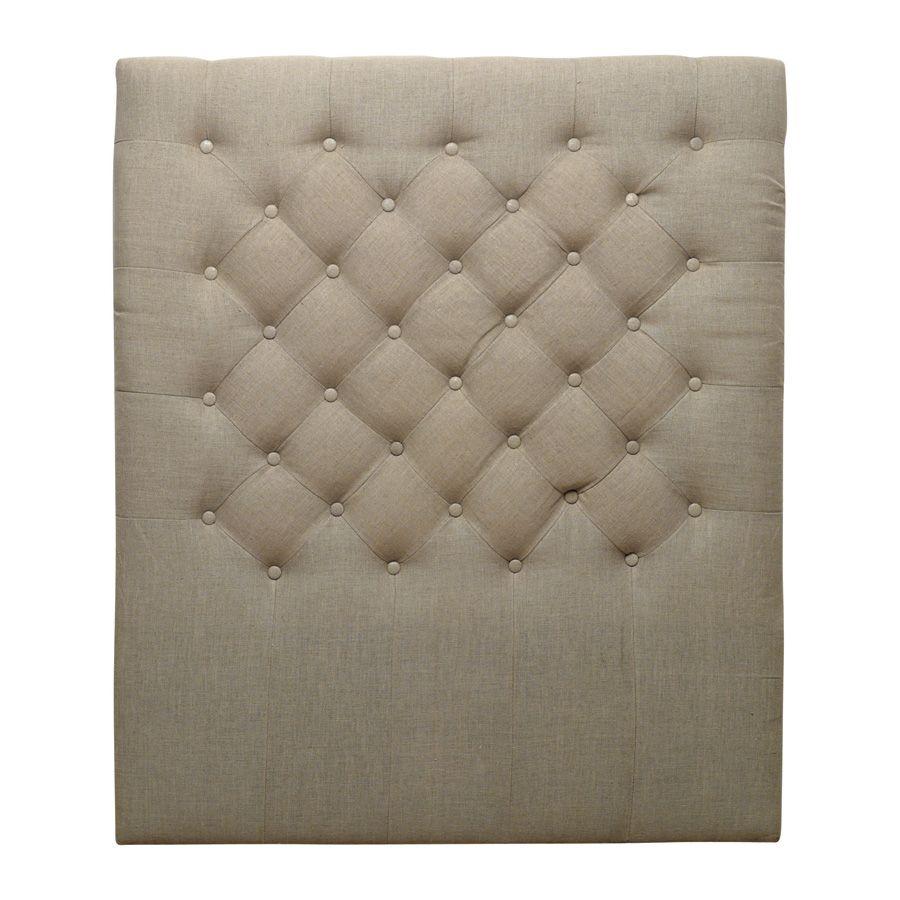 t te de lit capitonn e 100 cm beige interior 39 s. Black Bedroom Furniture Sets. Home Design Ideas