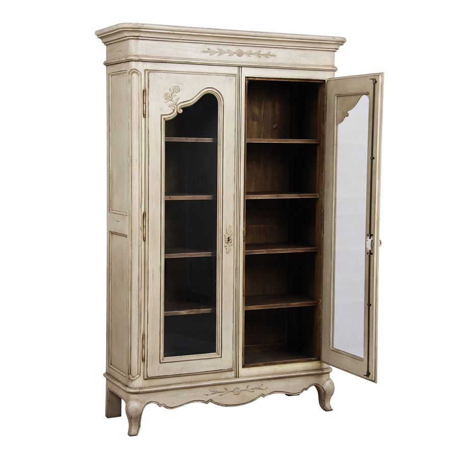 vitrine 2 portes beige interior 39 s. Black Bedroom Furniture Sets. Home Design Ideas