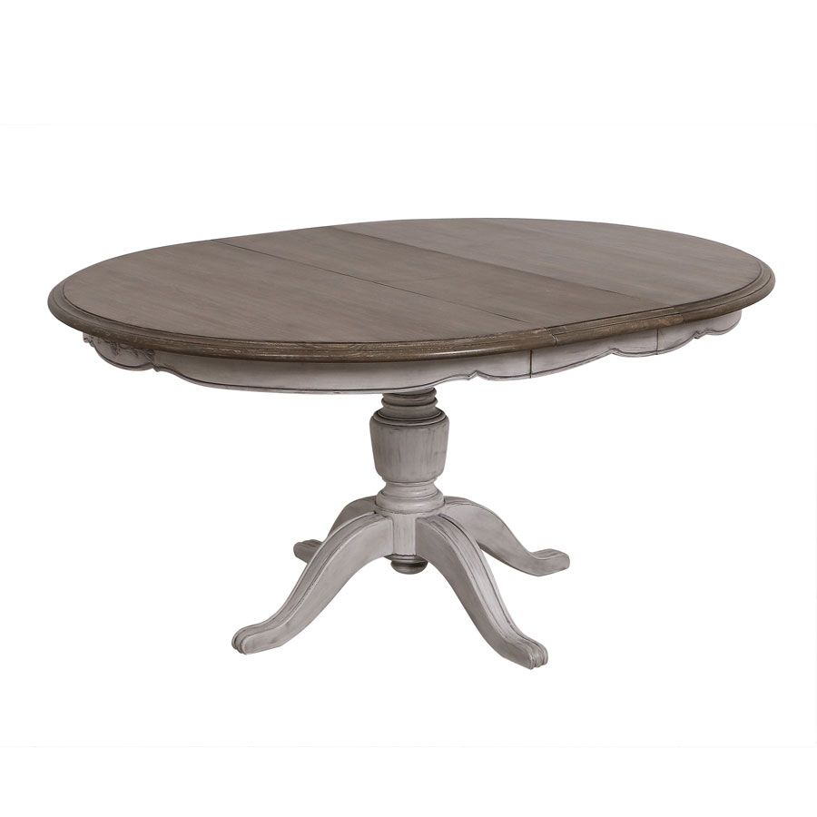 table ronde extensible en pin 8 personnes tables