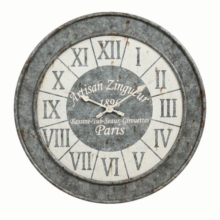 horloge facon zinc