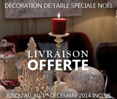 Encart liv off sur la deco de table de Noel