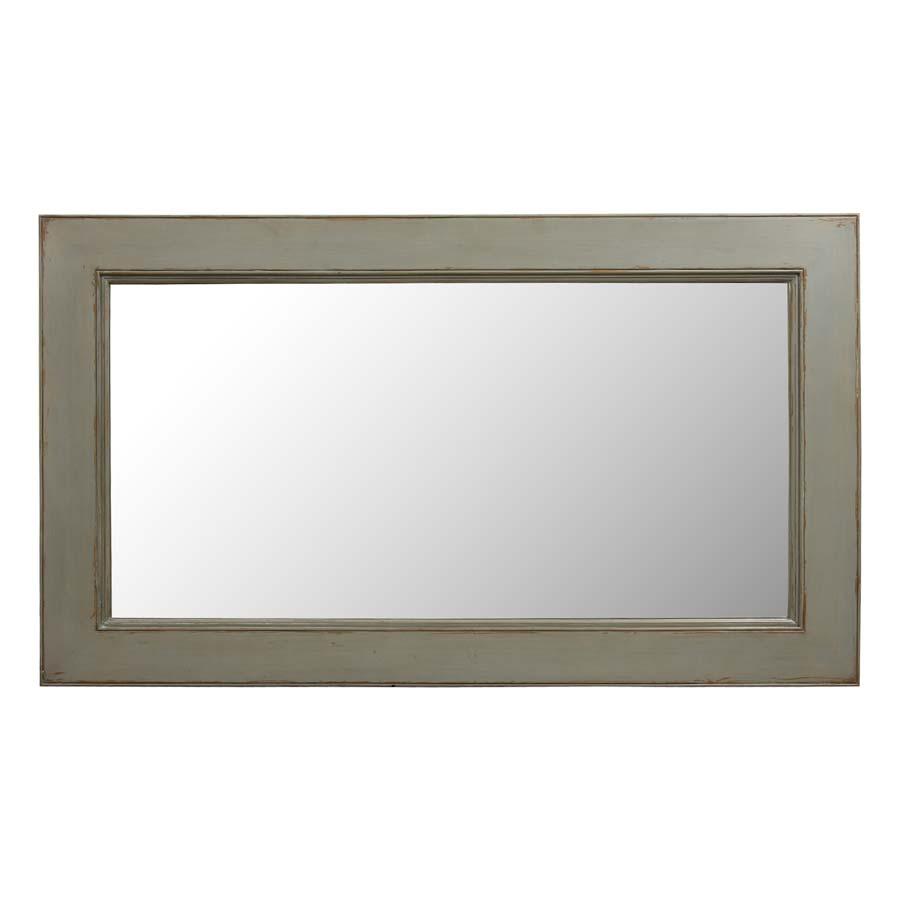 Miroir rectangulaire gris gris interior 39 s for Grand miroir gris