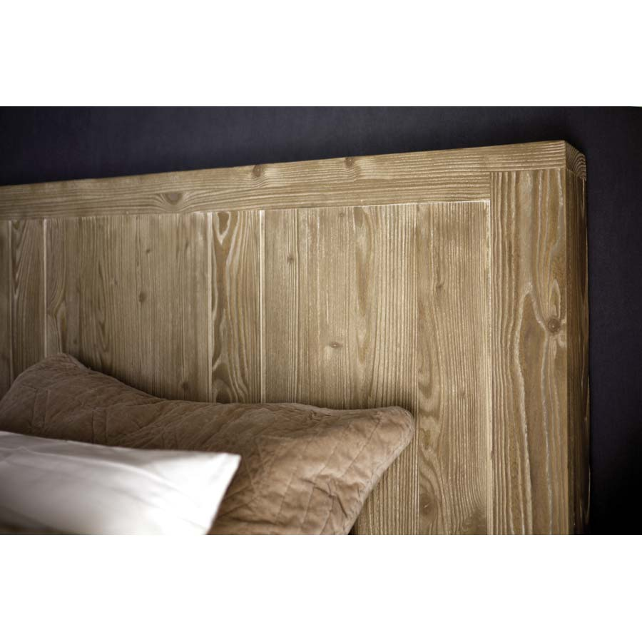 t te de lit en bois 175 cm naturel interior 39 s. Black Bedroom Furniture Sets. Home Design Ideas