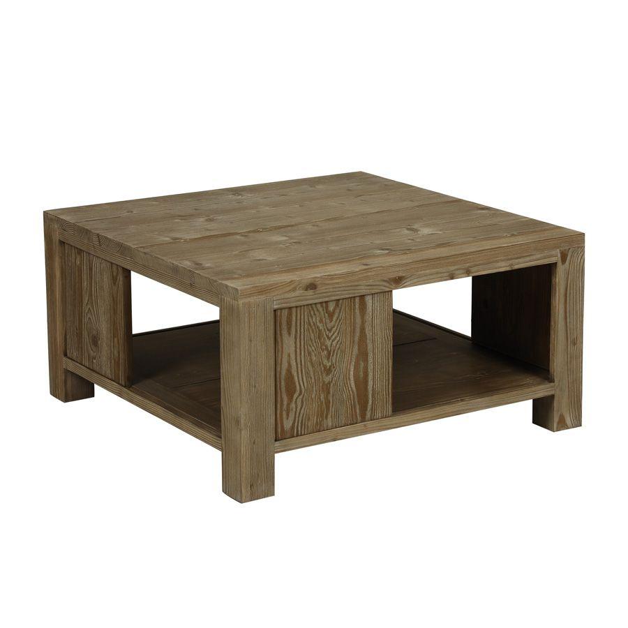 Table basse carrée  Naturel  Interiors -> Table Basse Interiors