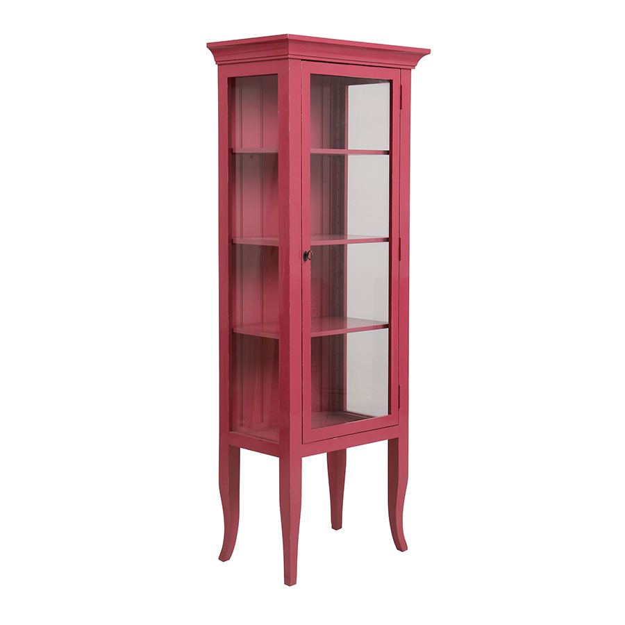 vitrine 1 porte rose interior 39 s. Black Bedroom Furniture Sets. Home Design Ideas