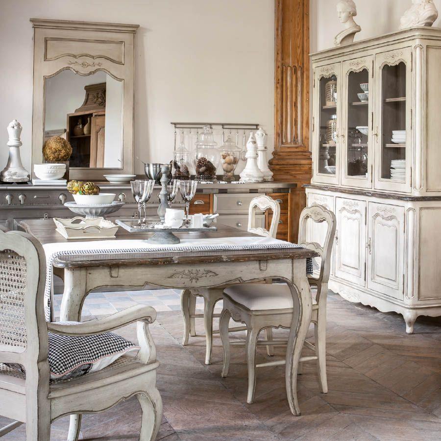 table rectangulaire allonges 12 14 couverts beige interior 39 s. Black Bedroom Furniture Sets. Home Design Ideas