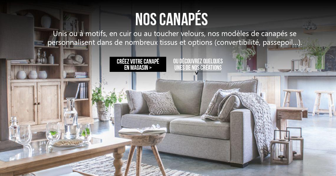 Canap s salon interior 39 s meubles d coration for Salon anglais en tissu