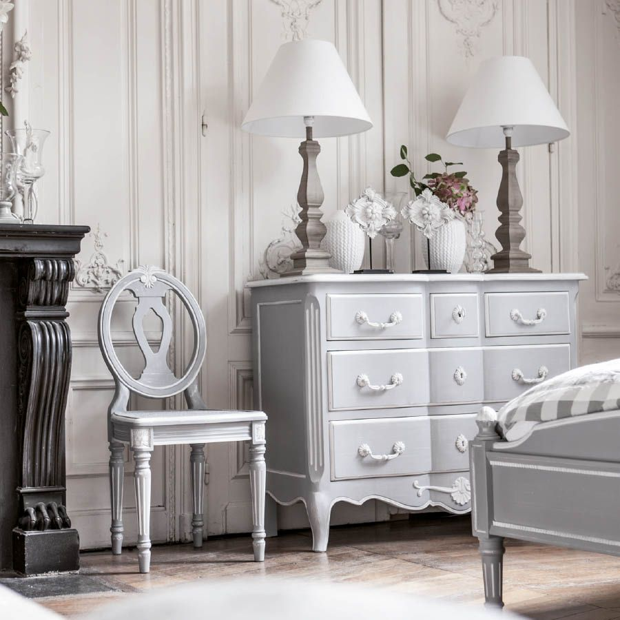 commode galb e 5 tiroirs gris interior 39 s. Black Bedroom Furniture Sets. Home Design Ideas