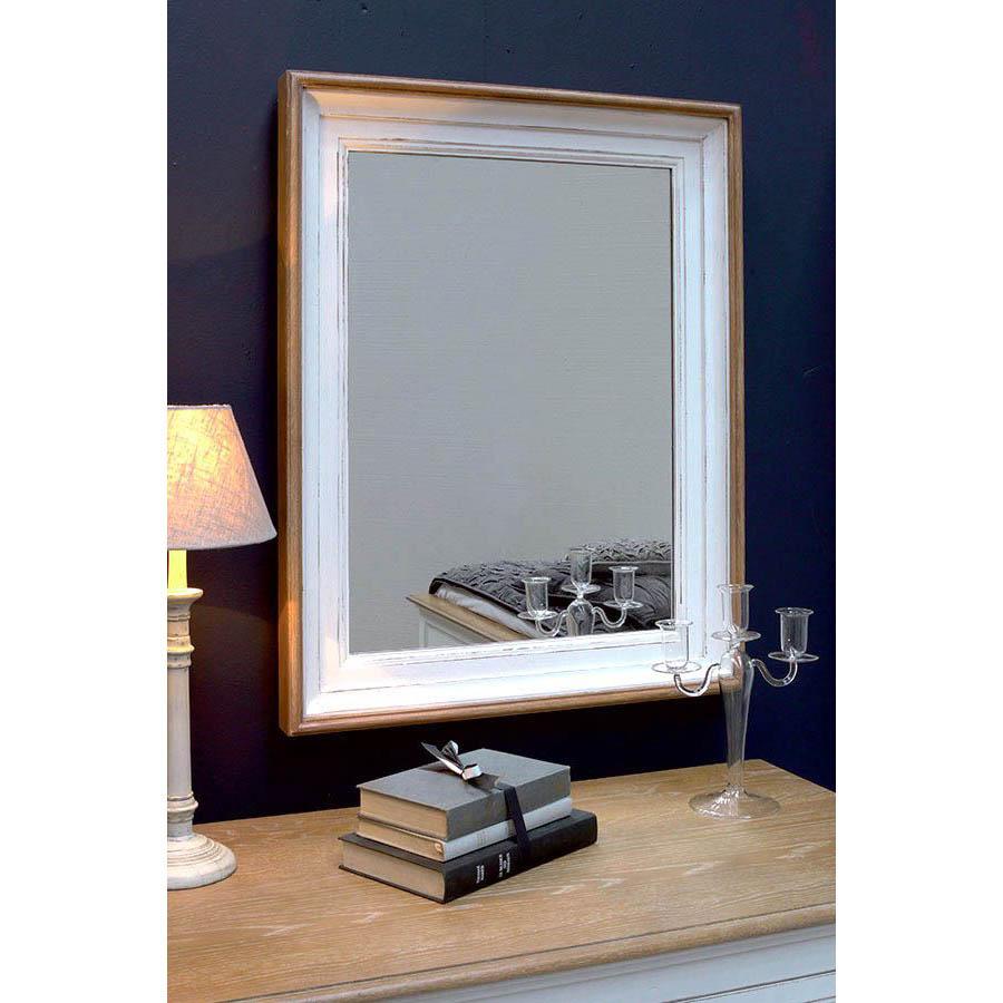 Miroir rectangulaire blanc blanc interior 39 s Miroir salon blanc