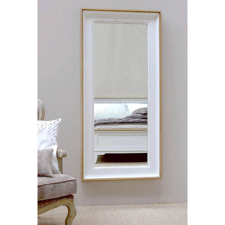 Miroir rectangulaire blanc blanc interior 39 s for Miroir blanc vieilli