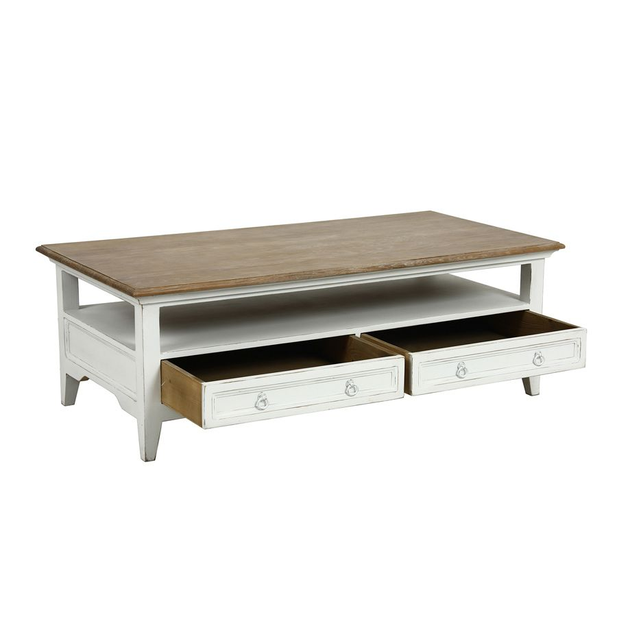 Table basse rectangulaire 2 tiroirs