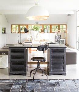 Interior 39 s meubles bois massif d coration salon chambre bureau sa - Bureau style romantique ...
