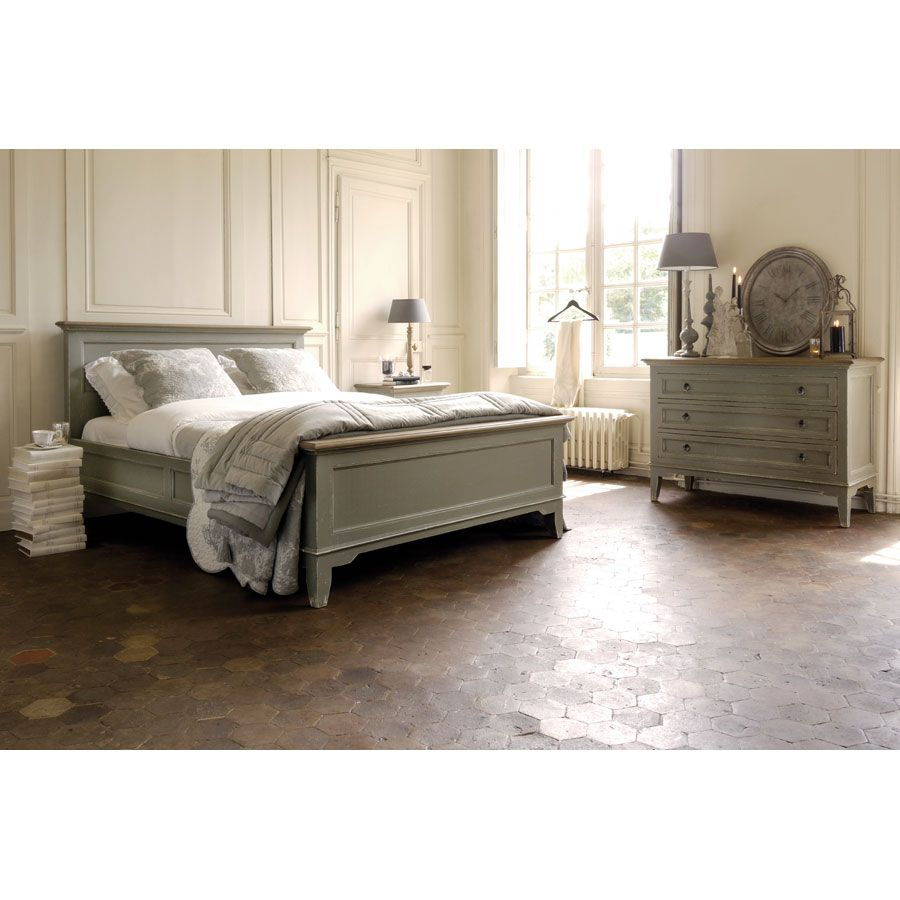 lit 140x190 cm avec sommier lattes gris interior 39 s. Black Bedroom Furniture Sets. Home Design Ideas