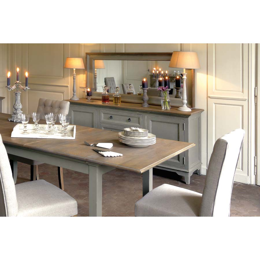 Miroir rectangulaire gris gris interior 39 s for Miroir salon rectangulaire