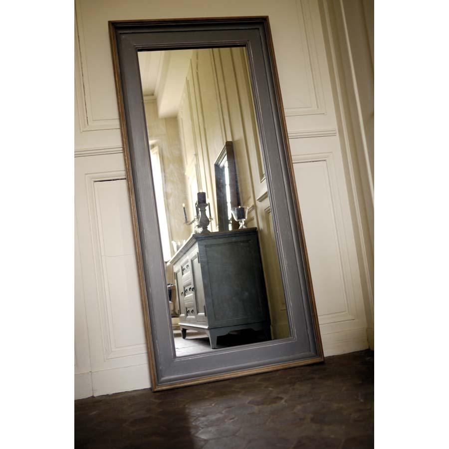 miroir rectangulaire gris gris interior 39 s. Black Bedroom Furniture Sets. Home Design Ideas