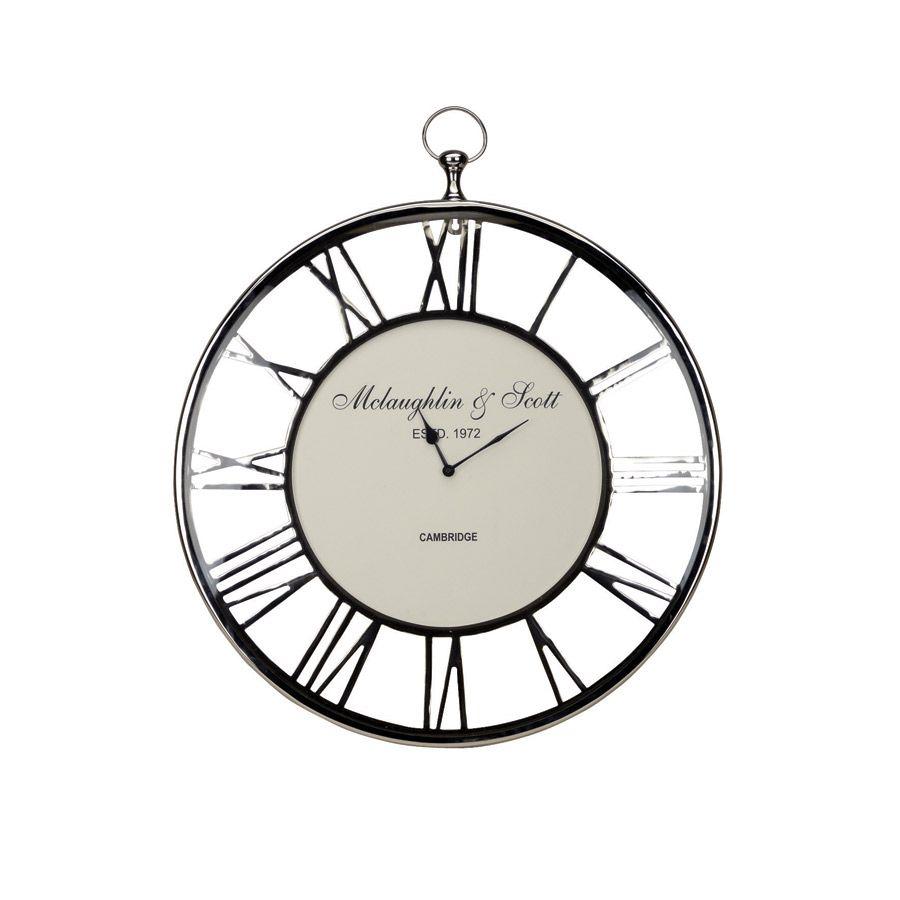 Image D Une Horloge horloge en métal chromé - gris - interior's